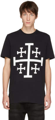 Neil Barrett Black Jerusalem Cross T-Shirt