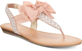Material Girl Swan Flat Thong Sandals, Women Shoes