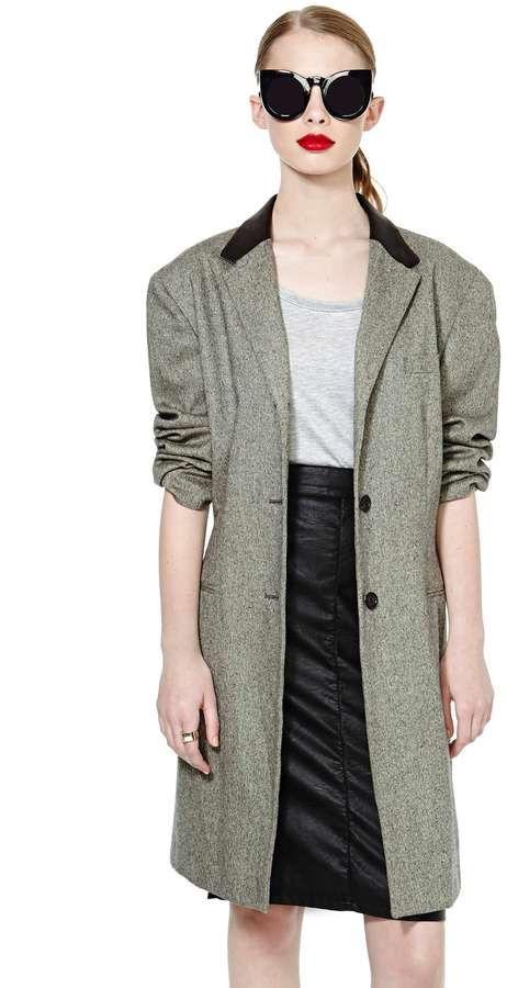 Nasty Gal Canter Wool Coat