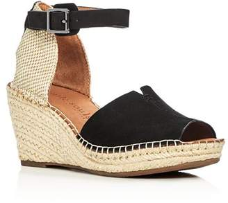 Kenneth Cole Gentle Souls by Gentle Souls Charli Nubuck Leather Ankle Strap Platform Wedge Sandals