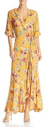 Band of Gypsies Hudson Floral-Print Maxi Wrap Dress