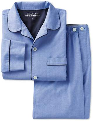 Charles Tyrwhitt Sky Cotton Pajama Set Size Large