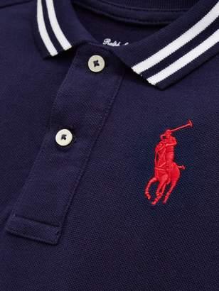 58a463931 Ralph Lauren Baby Boys Big Pony Romper Suit - Navy