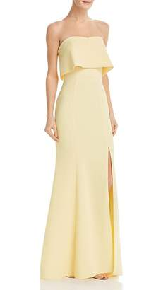 Avery G Strapless Crepe Gown