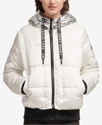 DKNY Sport Metallic-Hood Puffer Jacket