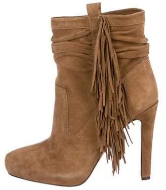 Jean-Michel Cazabat Suede High Heel Boots