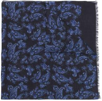 Kiton abstract print cashmere scarf