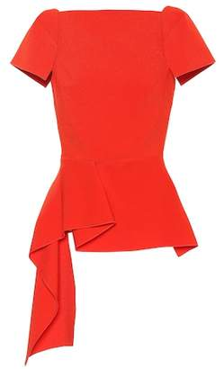 Roland Mouret Newhall stretch crêpe top