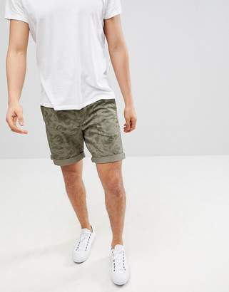 Benetton Shorts With Print In Khaki