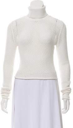 A.L.C. Crochet Turtleneck Sweater