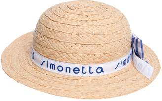 Simonetta Straw Effect Hat