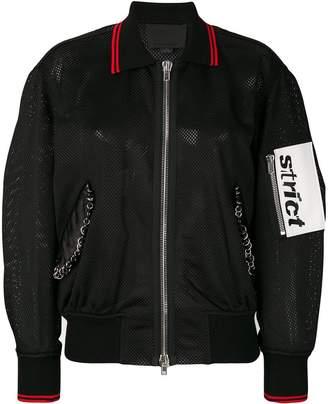 Alexander Wang mesh bomber jacket