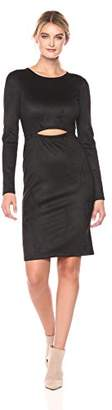 BCBGMAXAZRIA Azria Women's Whitley Knit Faux Suede Dress with Cutout