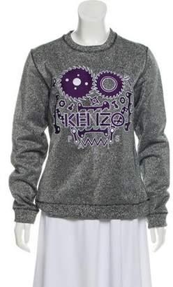 Kenzo Embroidered Glittered Sweatshirt Silver Embroidered Glittered Sweatshirt