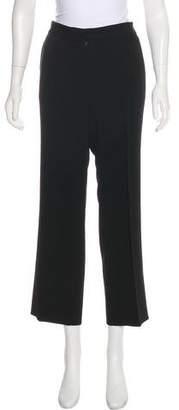 Herve Leger Mid-Rise Wide-Leg Pants