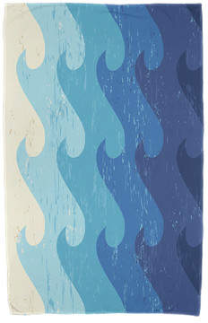 Wayfair Deep Sea Geometric Print Beach Towel