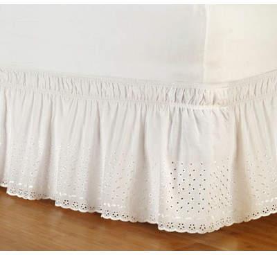 Wayfair Arev Eyelet Bed Skirt