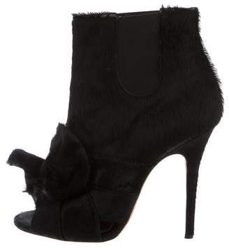Jean-Michel Cazabat for Sophie Theallet Ponyhair Peep-Toe Boots