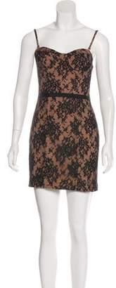 Haute Hippie Mini Lace Dress