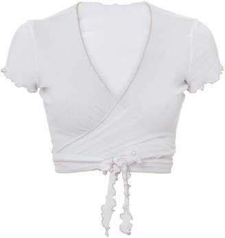 Only Hearts Tulle Wrap White Top