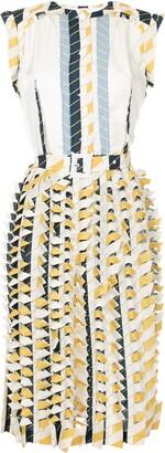 Maison Margiela printed 3D midi dress