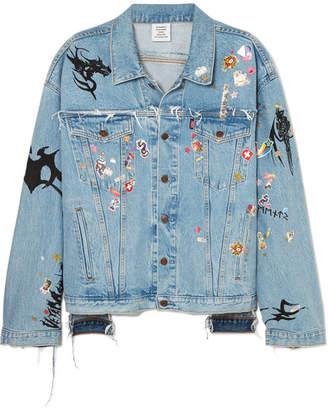 Vetements Oversized Embellished Denim Jacket - Light denim