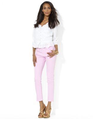 Lauren Ralph Lauren Slimming Modern Straight Ankle Jean