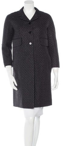 Carven Carven Tweed Knee-Length Coat