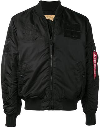 Alpha Industries classic zipped bomber jacket