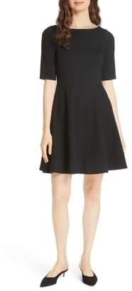Kate Spade lace-up ponte dress