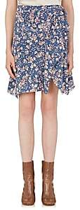 Isabel Marant Women's Becka Floral Silk-Blend Skirt-Blue