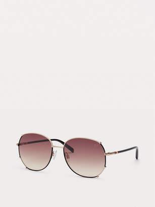 Diane von Furstenberg Ryleigh Aviator-Style Sunglasses