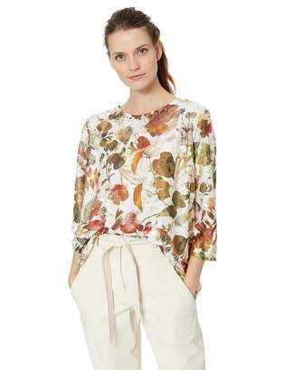 e9f5438d7aa50 Alfred Dunner Women s Floral Printed Texture Knit top