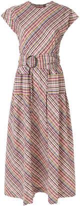 Isa Arfen belted plaid dress