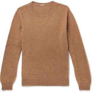 Massimo Alba Brushed Camel Hair Sweater