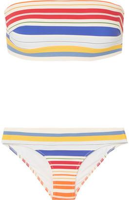 Stella McCartney Striped Bandeau Bikini - Red