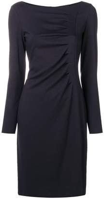 Giorgio Armani draped detail dress