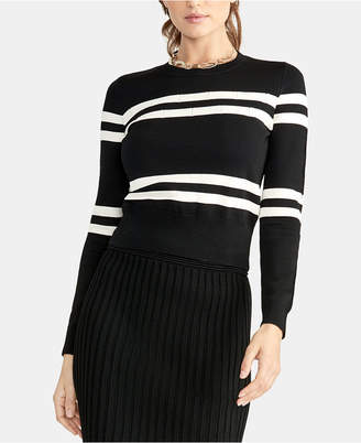 Rachel Roy Striped Cropped Sweater