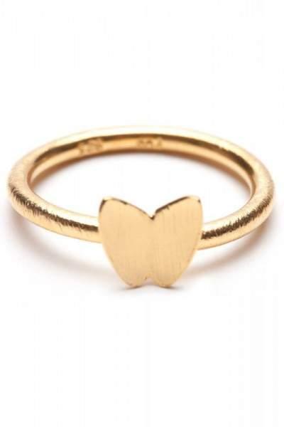 Styleserver DE Pernille Corydon Ring mit Schmetterling - vergoldet