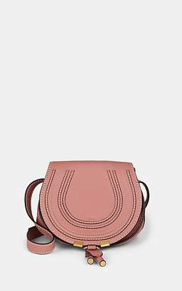 Chloé Women's Marcie Small Leather Crossbody Saddle Bag - Pink
