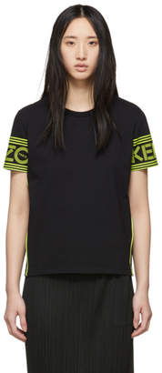 Kenzo Black and Yellow Logo T-Shirt