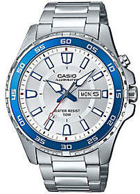 Casio Men's Silver Dive Style Watch