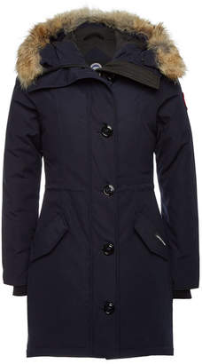 Canada Goose Rossclair Down Parka with Fur-Trimmed Hood