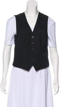 Ralph Lauren Purple Label Pinstriped Paneled Vest