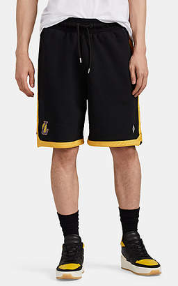 Marcelo Burlon County of Milan Men's Los Angeles LakersTM Cotton French Terry Shorts - Black