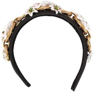 Dolce & Gabbana floral appliqué headband