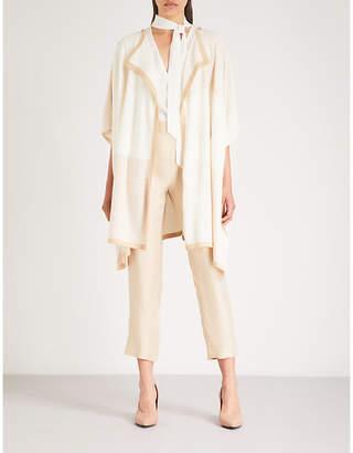 St. John Striped wool wrap jacket