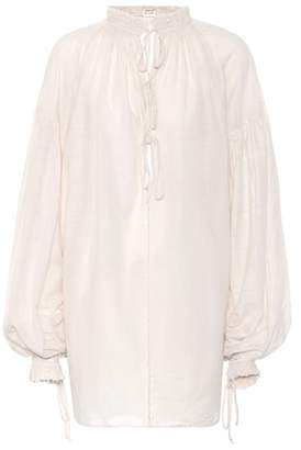 Saint Laurent Cotton and silk blouse