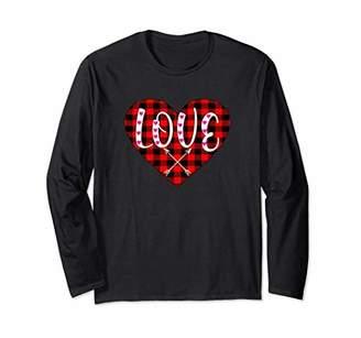 fb6b2a7b8c0 Buffalo David Bitton Plaid Heart Valentine s Long sleeve for Women loved