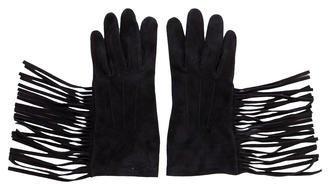 LanvinLanvin Fringe Suede Gloves